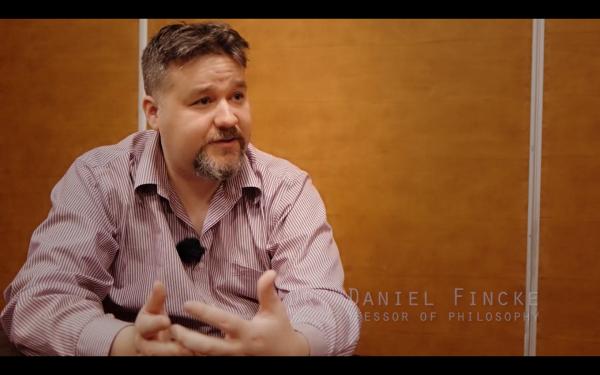 Dr. Daniel Fincke in Sylvia Broeckx's Hug an Atheist documentary.